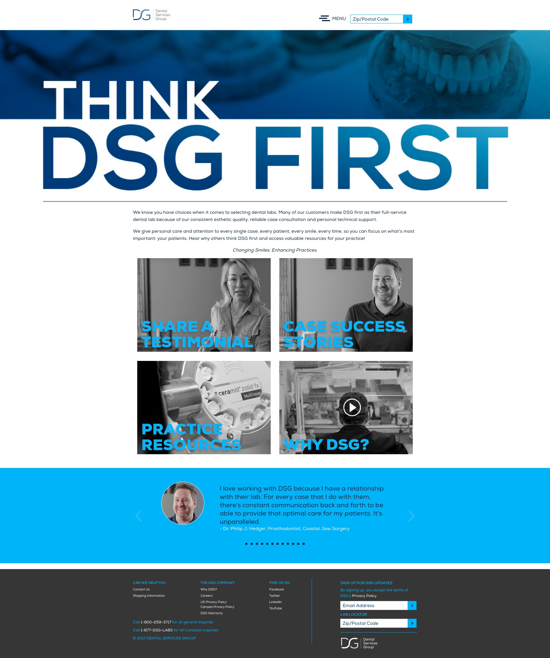 Think DSG First Homepage