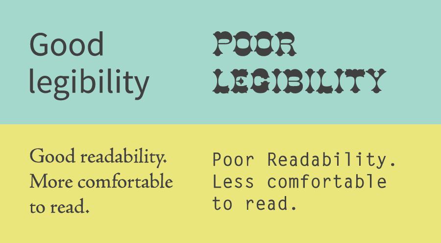 legibility v readability