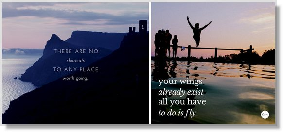 quotes over beautiful background images