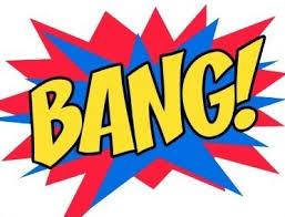 """comic book expression, """"bang!"""""""