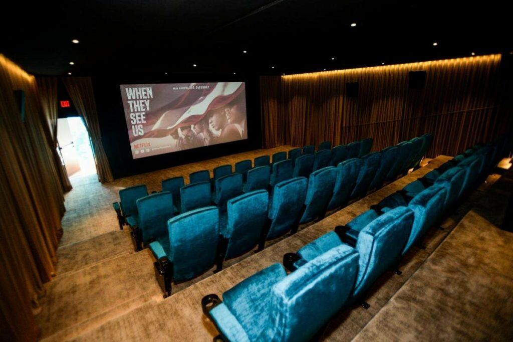 The Amanda Cinema screening room on the ARRAY creative campus